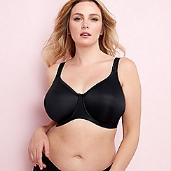Elomi - Black 'Smoothing' underwired moulded cups t-shirt bra
