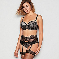 Gorgeous DD+ - Black 'eva' lace balcony bra