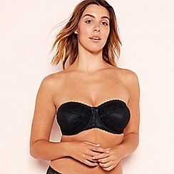 abbec20653f8 Gorgeous DD+ - Black lace  Charlotte  non-padded strapless bra