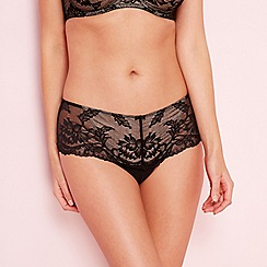 Fantasie - Black lace 'Bronte' thongs