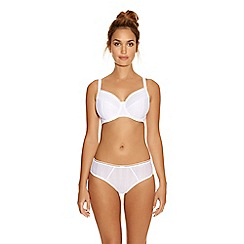 Fantasie - White cotton blend 'Serene' underwired full cup bra