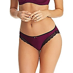 Freya - Wine 'Deco Amore' Bikini Briefs
