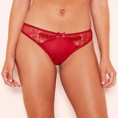 Gorgeous DD+ - Red leaf lace  Jessie  Brazilian knickers 086d8ae96