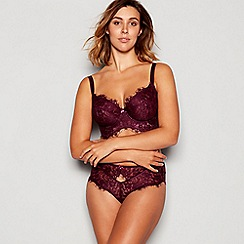 Gorgeous DD+ - Purple longline 'Marcia' lace balcony bra