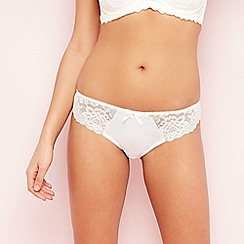 Gorgeous DD+ - Ivory lace and satin Brazilian knickers