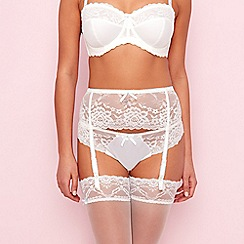 Gorgeous DD+ - Ivory bridal lace suspender belt