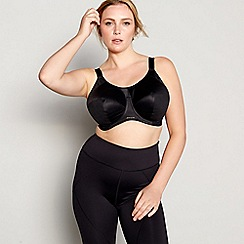 Elomi - Black 'Energise' underwired non-padded sports bra