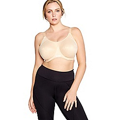 Elomi - Natural 'Energise' underwired non-padded sports bra