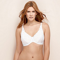 Charnos - White lace 'Rosalind' underwired non-padded full cup bra