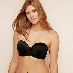 Gorgeous DD+ - Black lace underwired padded multi-way bra