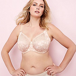 Elomi - Natural 'Morgan' underwired non-padded E+ full cup bra