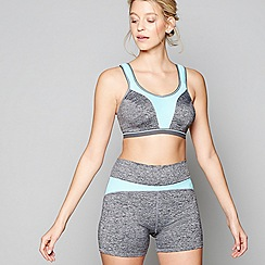 Freya - Grey 'Force' non-wired padded DD+ sports bra