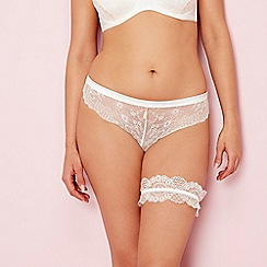 Charnos - Ivory lace 'Bailey' Brazilian knickers