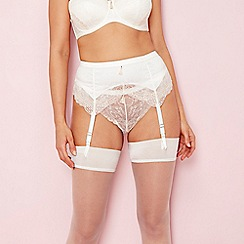 Charnos - Ivory lace 'Bailey' bridal suspender belt
