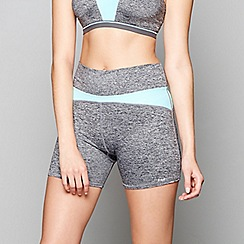 Freya - Grey 'Reflective Speed' sports shorts