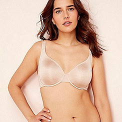 Gorgeous DD+ - 2 pack nude and pink underwired non-padded t-shirt bras