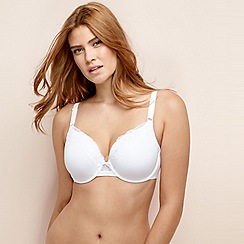Gorgeous DD+ - White 'Back Smoothing' underwired padded t-shirt bra