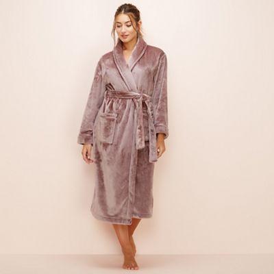 Lounge & Sleep Taupe dressing gown   Debenhams