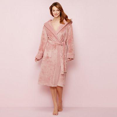 J by Jasper Conran Rose pink fleece dressing gown   Debenhams