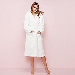 J by Jasper Conran - Ivory fleece dressing gown