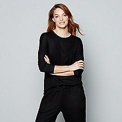 J by Jasper Conran - Black 'Ce Soir' long sleeve loungewear top
