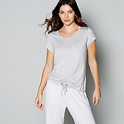J by Jasper Conran - Grey short sleeve loungewear top