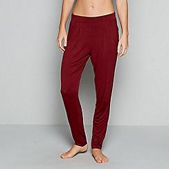 J by Jasper Conran - Dark red loungewear bottoms