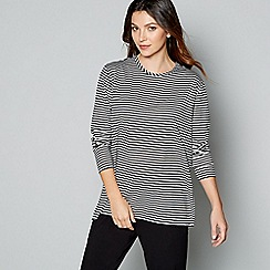 J by Jasper Conran - Black stripe print long sleeve loungewear top