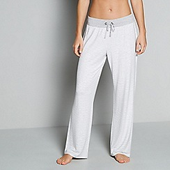 J by Jasper Conran - Grey stripe loungewear bottoms