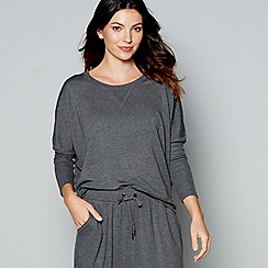 J by Jasper Conran - Dark grey long sleeve loungewear top