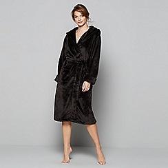 J by Jasper Conran - Black fleece dressing gown