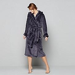 J by Jasper Conran - Dark grey fleece dressing gown
