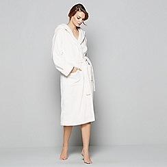 J by Jasper Conran - Cream fleece dressing gown