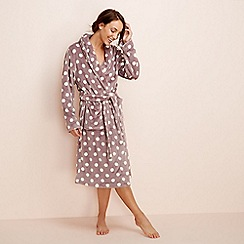 Lounge & Sleep - Taupe spot print dressing gown