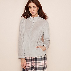 Lounge & Sleep - Grey fleece bed jacket