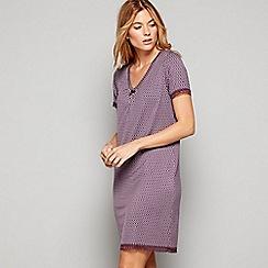 J by Jasper Conran - Purple geometric print 'City Chic' short sleeve nightdress
