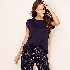 Lounge & Sleep - Navy short sleeve pyjama top