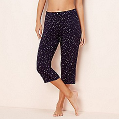 Lounge & Sleep - Navy star print pyjama bottoms