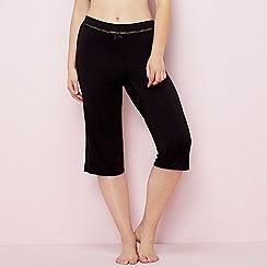 Gorgeous DD+ - Black lace trim pyjama bottoms