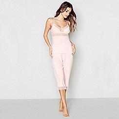 J by Jasper Conran - Pink lace pyjama set