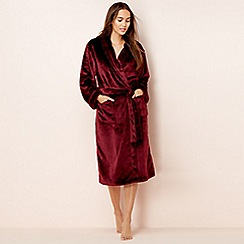 Lounge & Sleep - Maroon fleece dressing gown