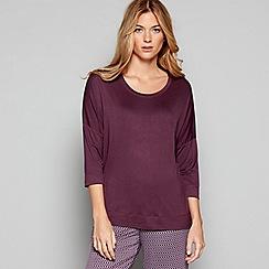 J by Jasper Conran - Purple 'City Chic' 3/4 length sleeve pyjama top