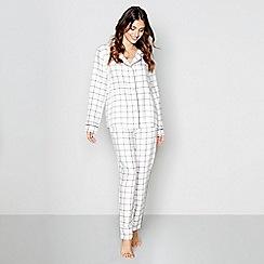 J by Jasper Conran - Cream check print 'Hygge' pyjama set