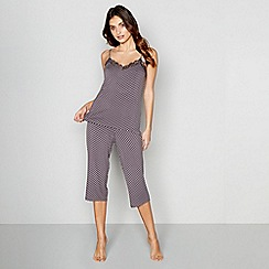 J by Jasper Conran - Dark grey floral print 'Hygge' pyjama set