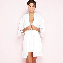 The Collection - White bridal dressing gown
