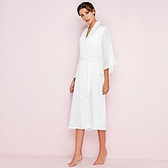 The Collection - White bridal satin dressing gown