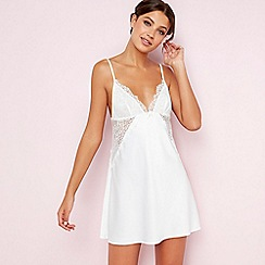 The Collection - White satin lace chemise