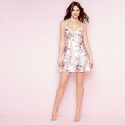 The Collection - Pale pink floral print satin 'Eva' chemise