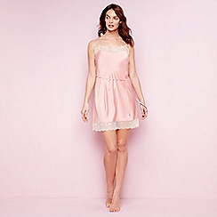 The Collection - Pale pink satin 'Eva' chemise