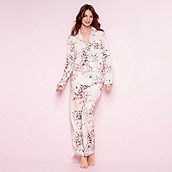 The Collection - Pale pink floral print 'Eva' pyjama set